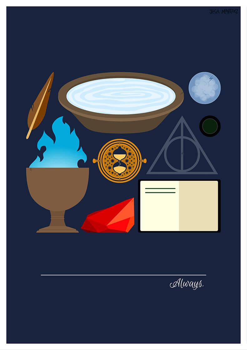 Harry Potter Clipart Minimalist - Phone Wallpaper Harry Potter Art - HD Wallpaper