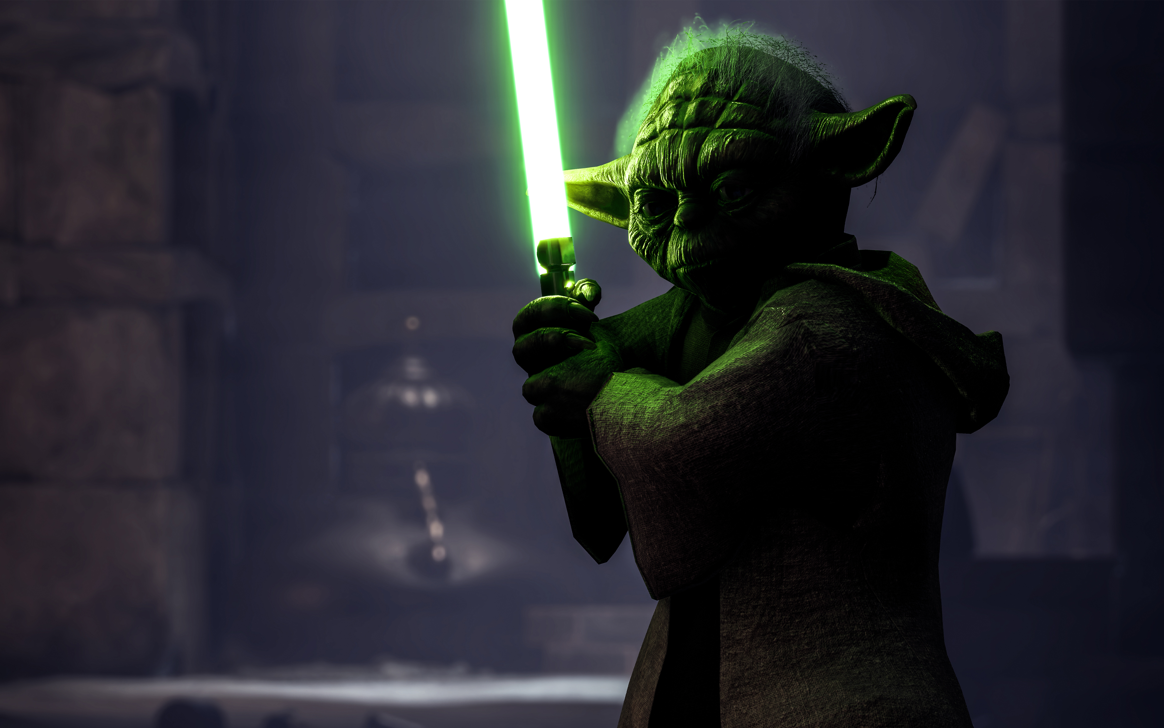 Star Wars Yoda Hd 3840x2400 Wallpaper Teahub Io