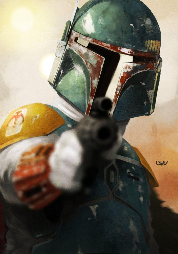 Star Wars Boba Fett Art 736x1051 Wallpaper Teahub Io