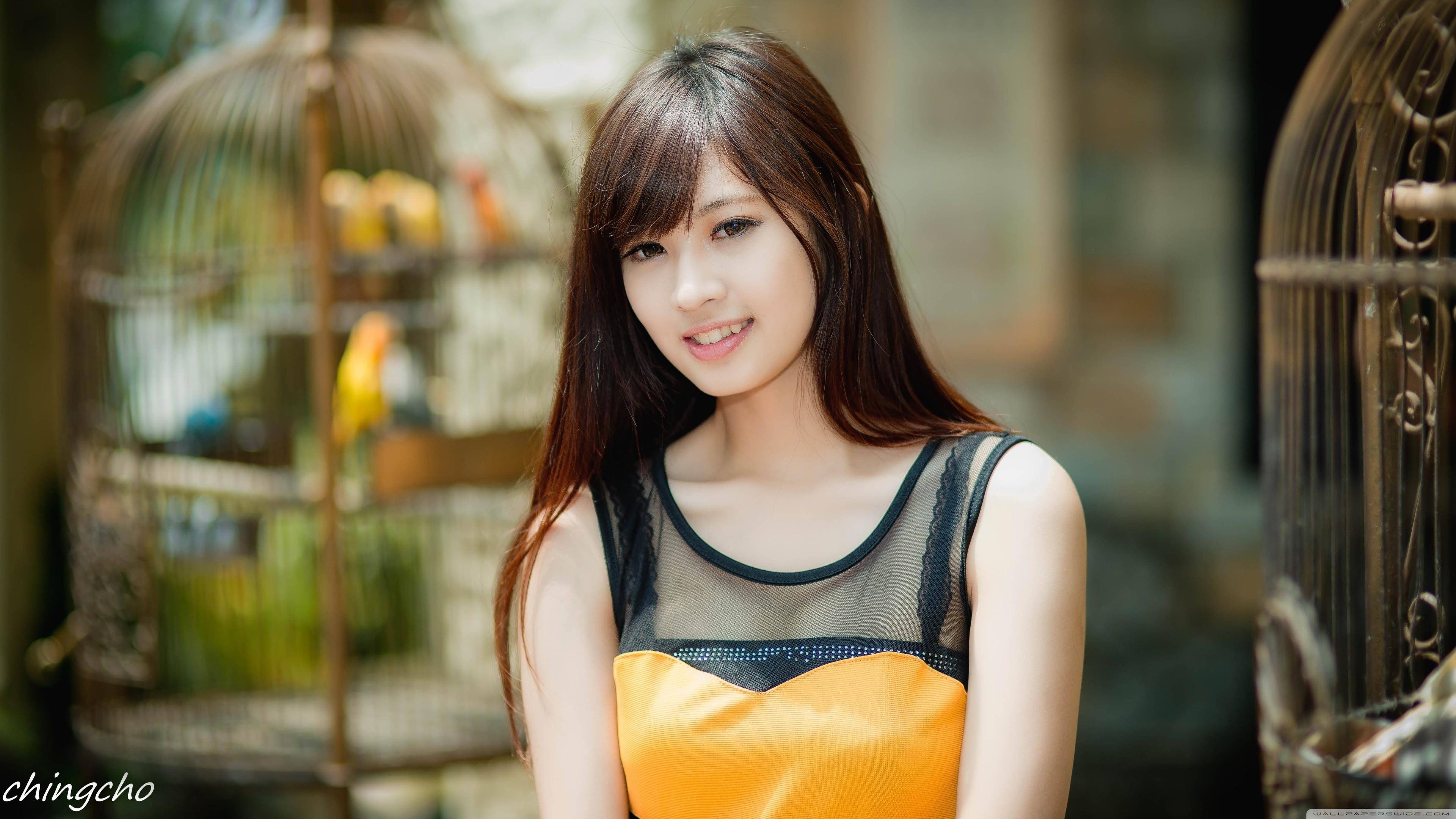Asian 4k Ultra Hd Wallpaper And Background - Beautiful Asian Girls Uhd - HD Wallpaper