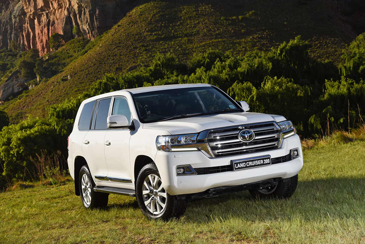 Toyota Land Cruiser White - HD Wallpaper