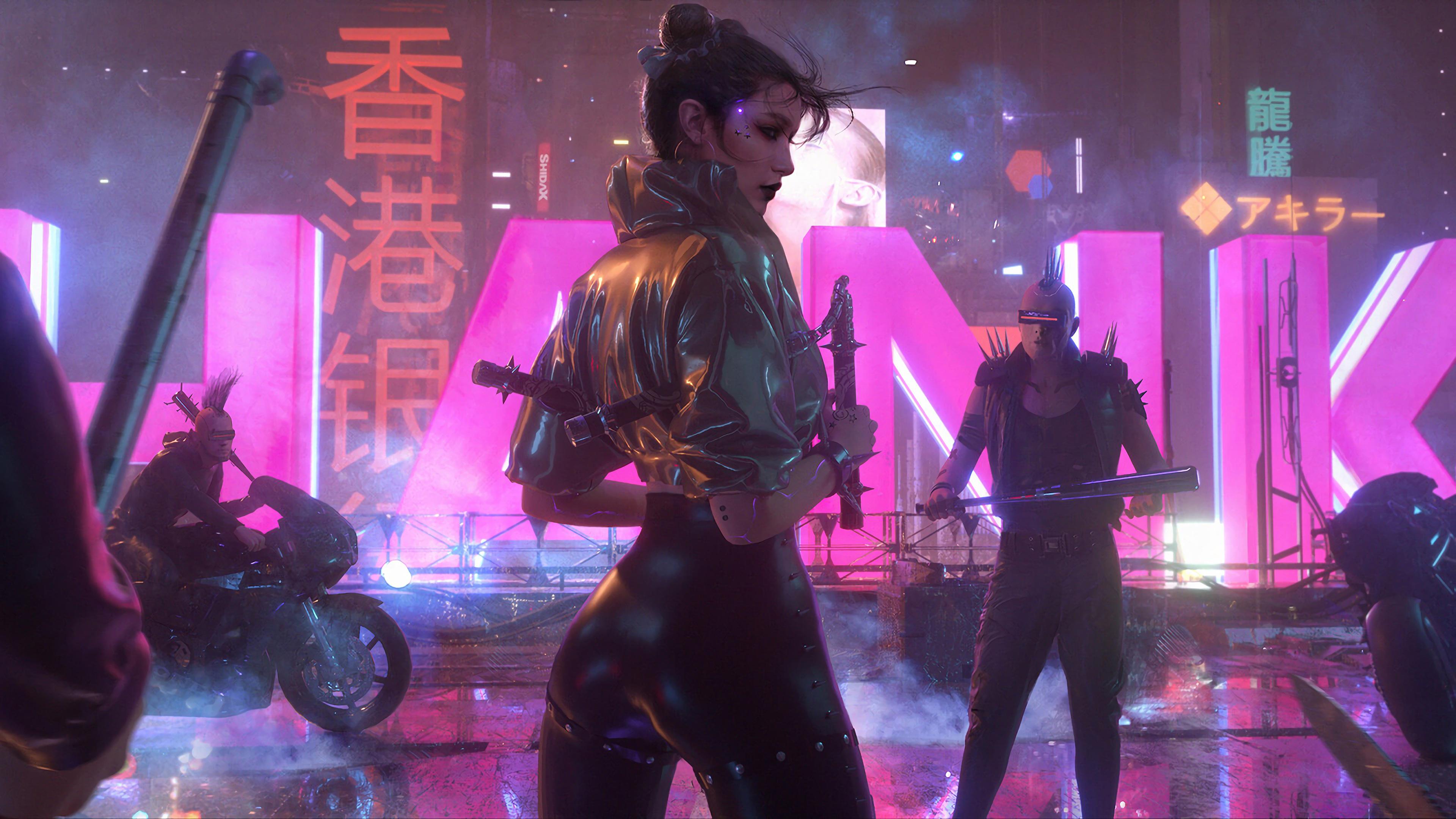 Cyberpunk Girl Sci Fi 4k Cyberpunk Girl Wallpaper 4k 3840x2160 Wallpaper Teahub Io