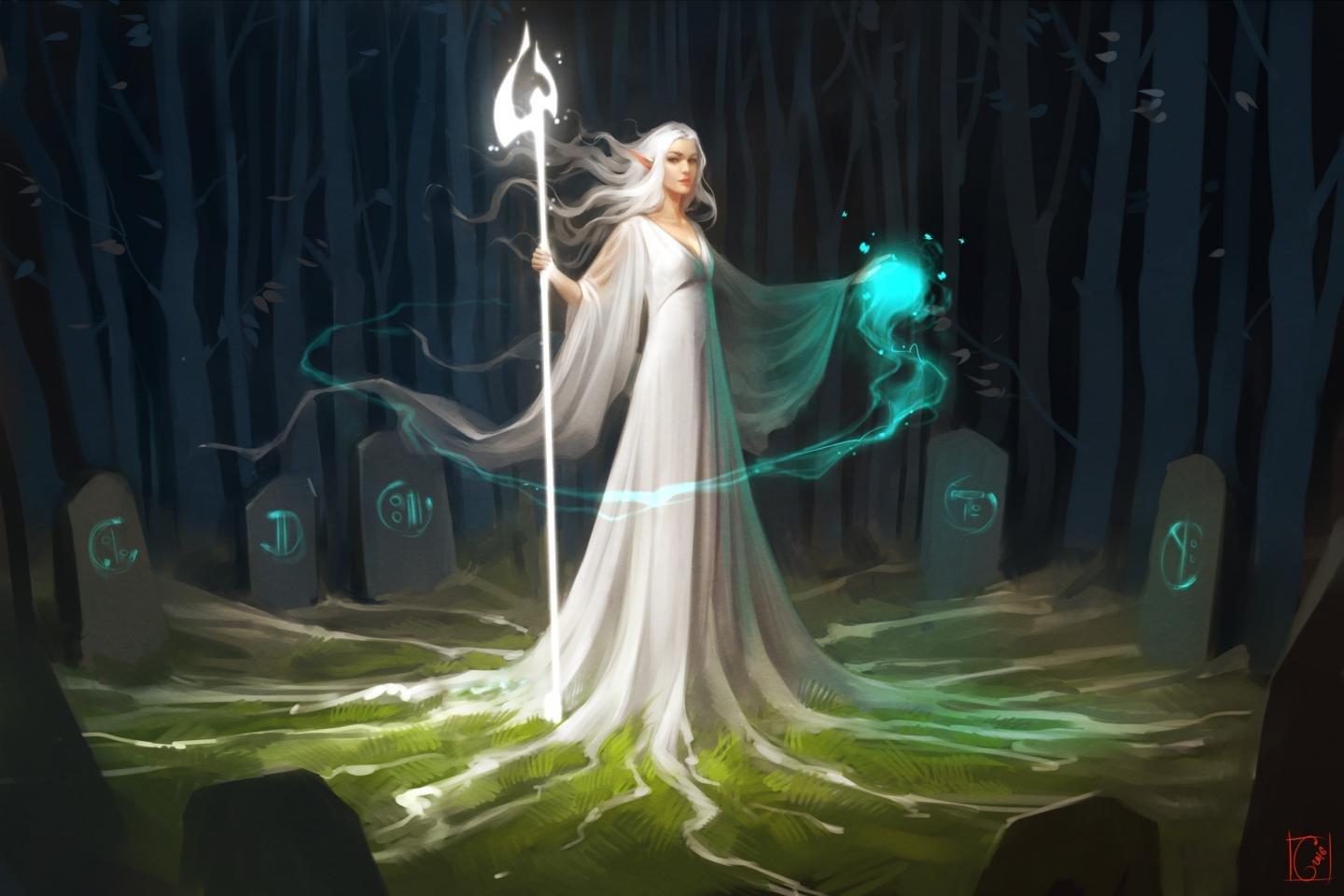 Free Download Elf Wallpaper Id - Elf Magic Fantasy Art - HD Wallpaper
