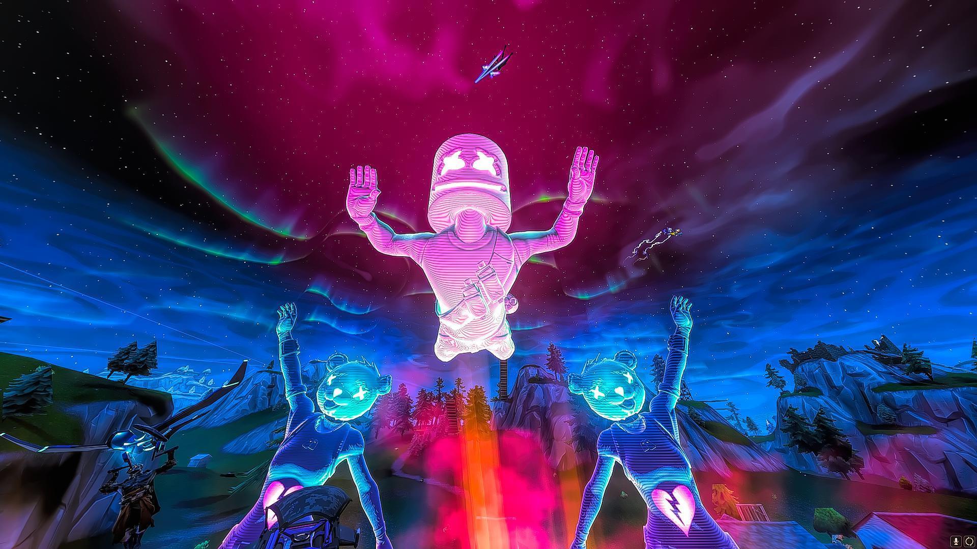 Fortnite Marshmello Wallpaper Hd Concert Live Event ...