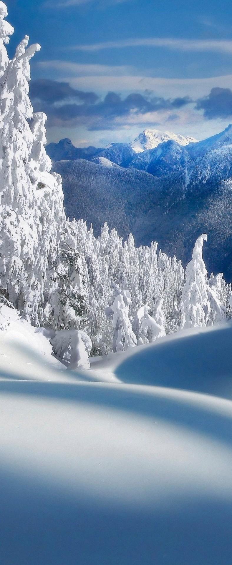 Iphone 8 Plus Wallpaper Winter Snow - HD Wallpaper