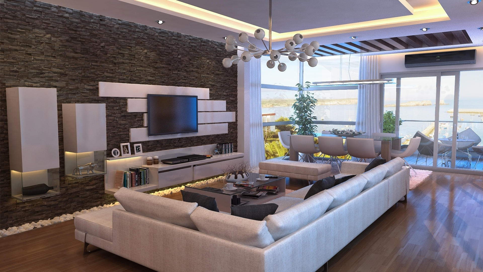 Living Room Feature Wall Ideas Wallpaper - Feature Walls In Houses - HD Wallpaper