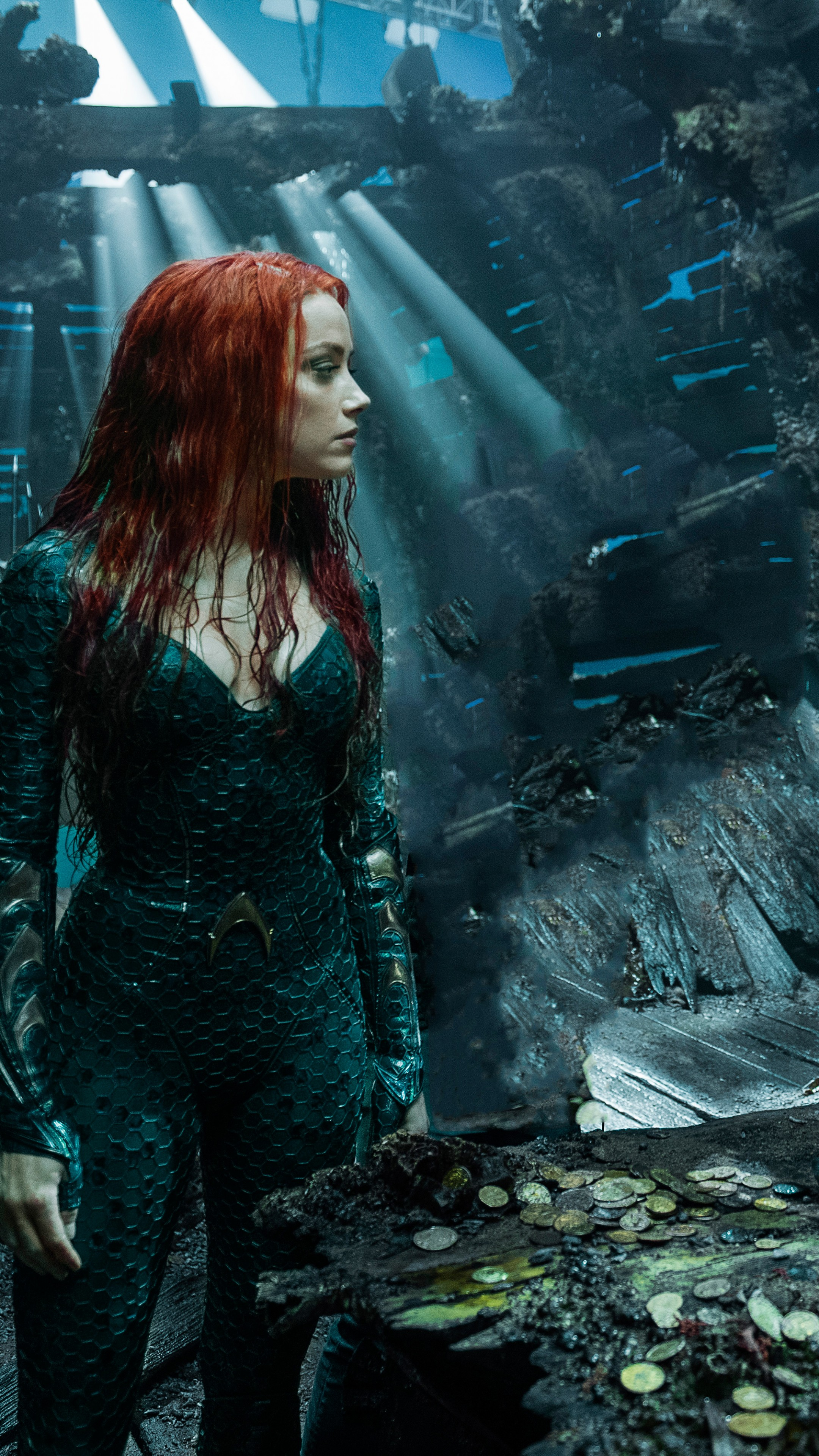Amber Heard Red Hair 2160x3840 Wallpaper Teahub Io