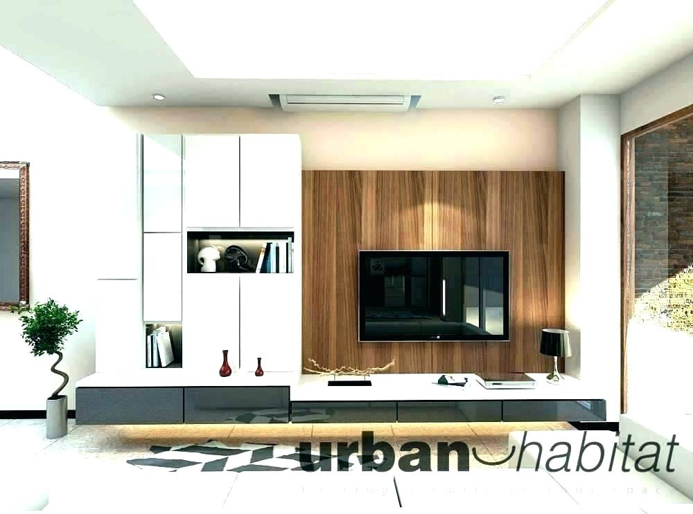 Simple Bedroom Paint Ideas Wall Design Ideas For Living - Tv Feature Wall With Cabinet Design - HD Wallpaper