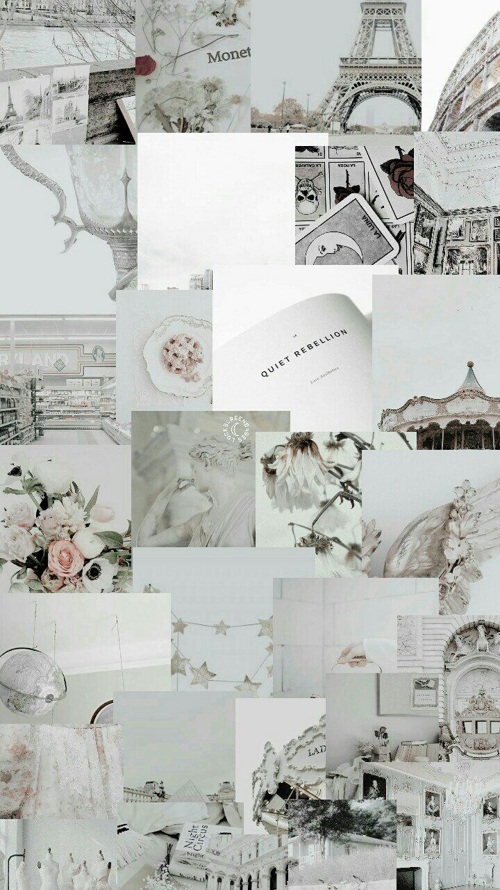 White Aesthetic Tumblr Collage 720x1280 Wallpaper Teahub Io