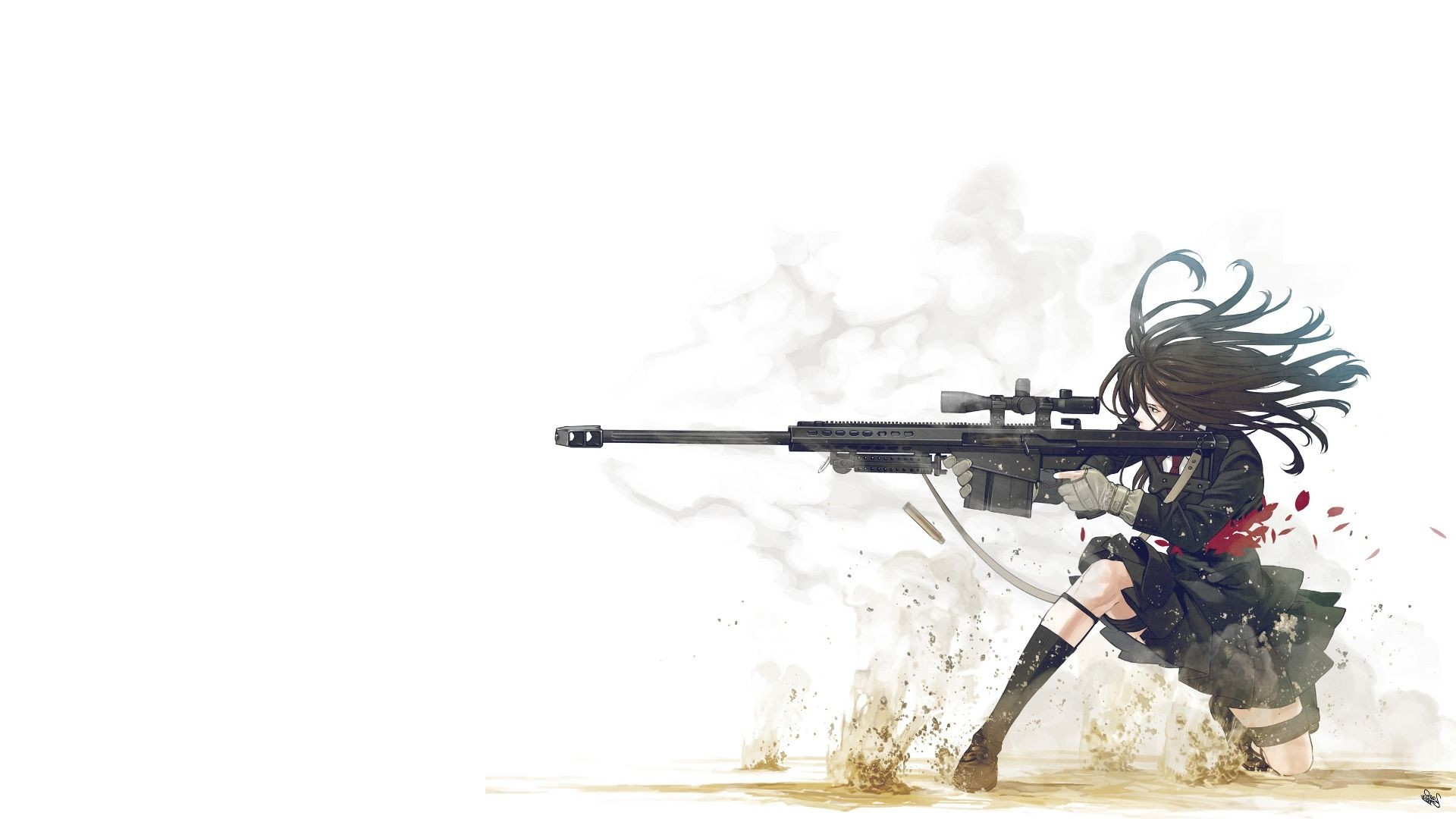 1920x1080, New Anime Girl Gun Wallpaper Free - Anime Wallpaper Gun - HD Wallpaper