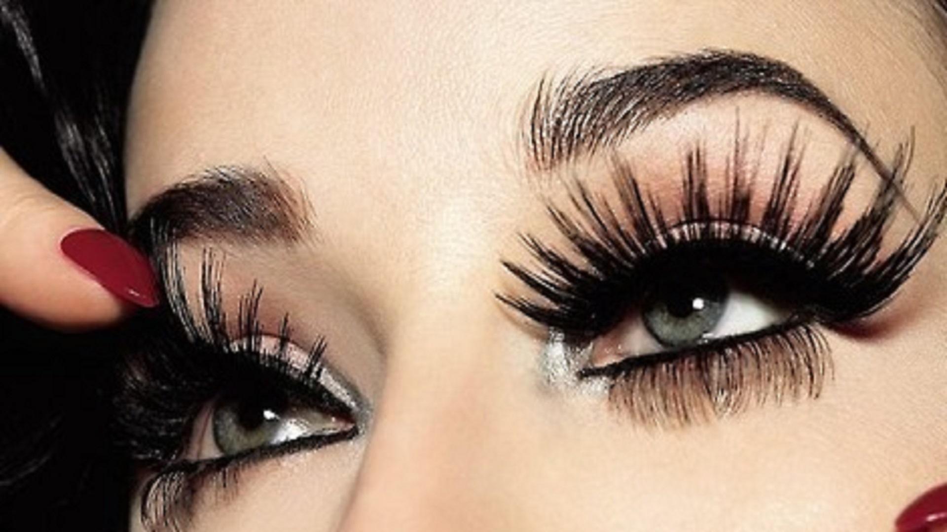 Fake Eyelashes On Girls - 1920x1080 ...