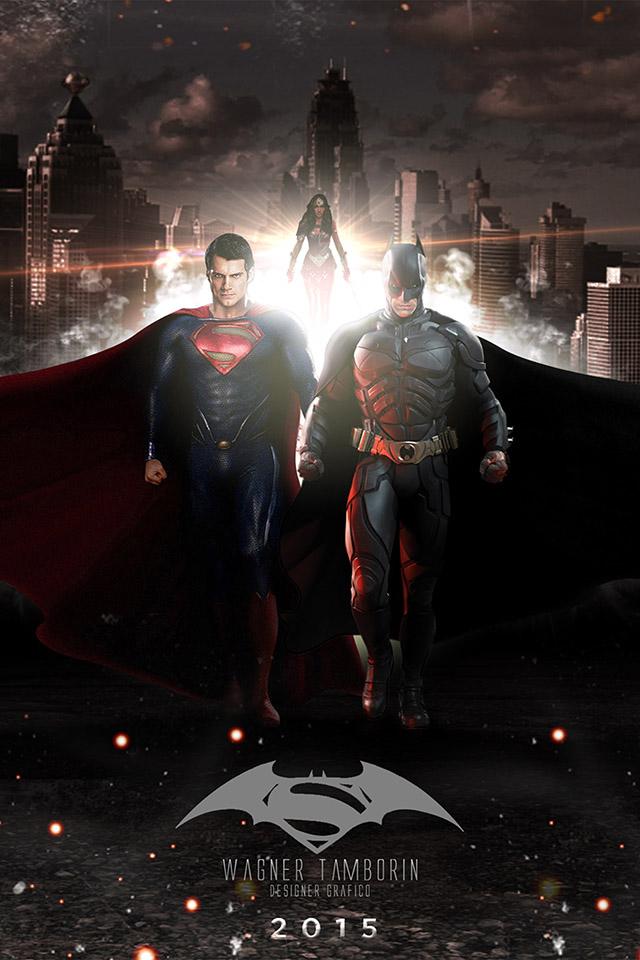 Wagner Tamborin Batman Superman Iphone 4s Wallpaper - Batman Vs Superman Hd Iphone - HD Wallpaper