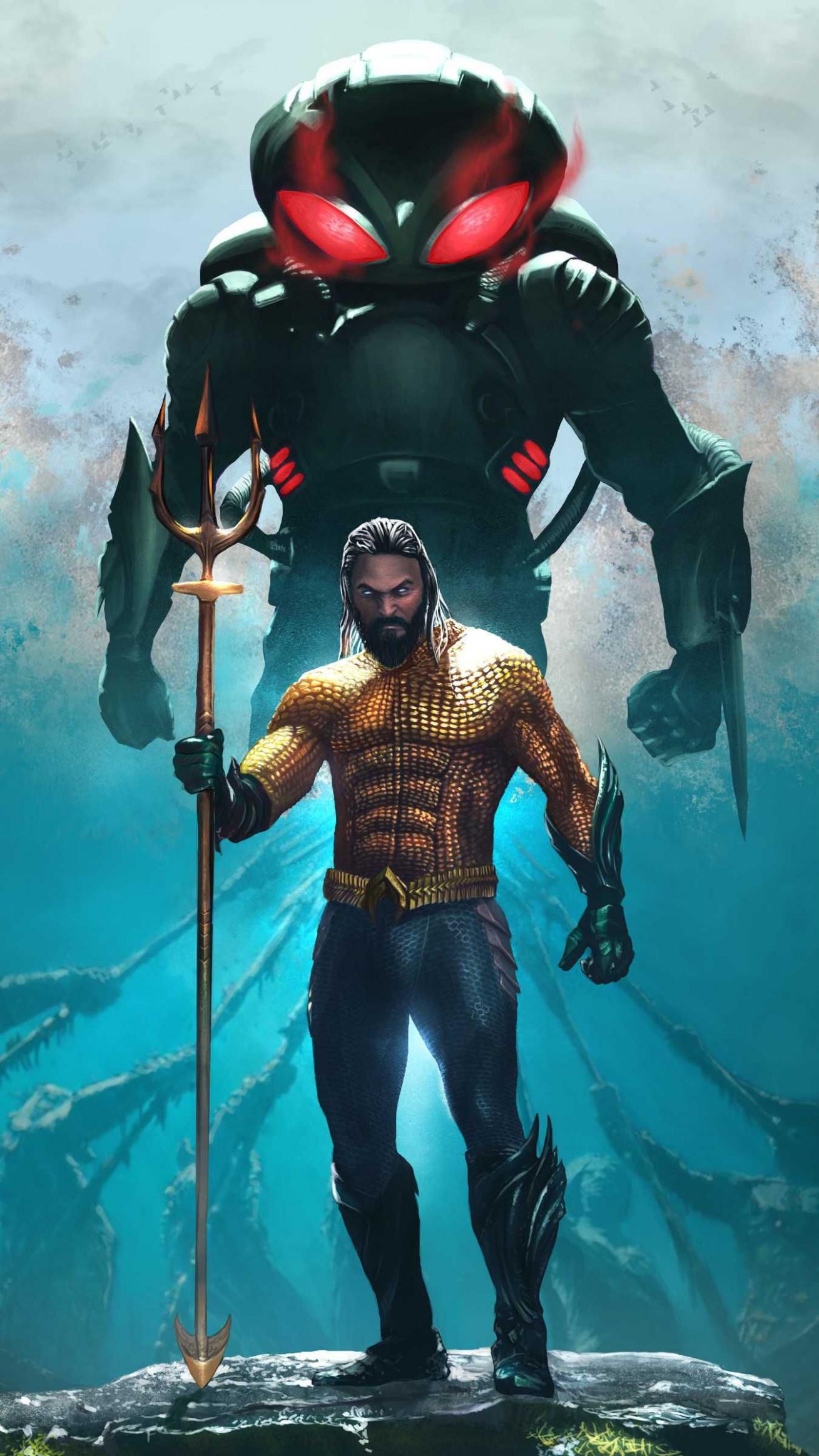 Aquaman And Black Manta Iphone Wallpaper - Ultra Hd Superhero Wallpaper 4k - HD Wallpaper