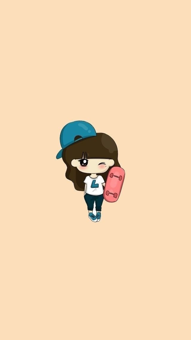 Cartoon Skateboard Girl Iphone 6 6 Plus And Iphone Cute Cartoon