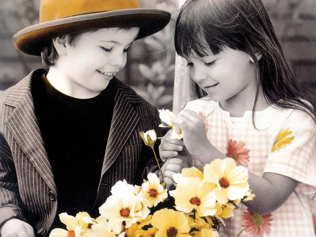 Baby Couple Wallpaper Picture Facebook, Quotes - Cute Children Couple - HD Wallpaper