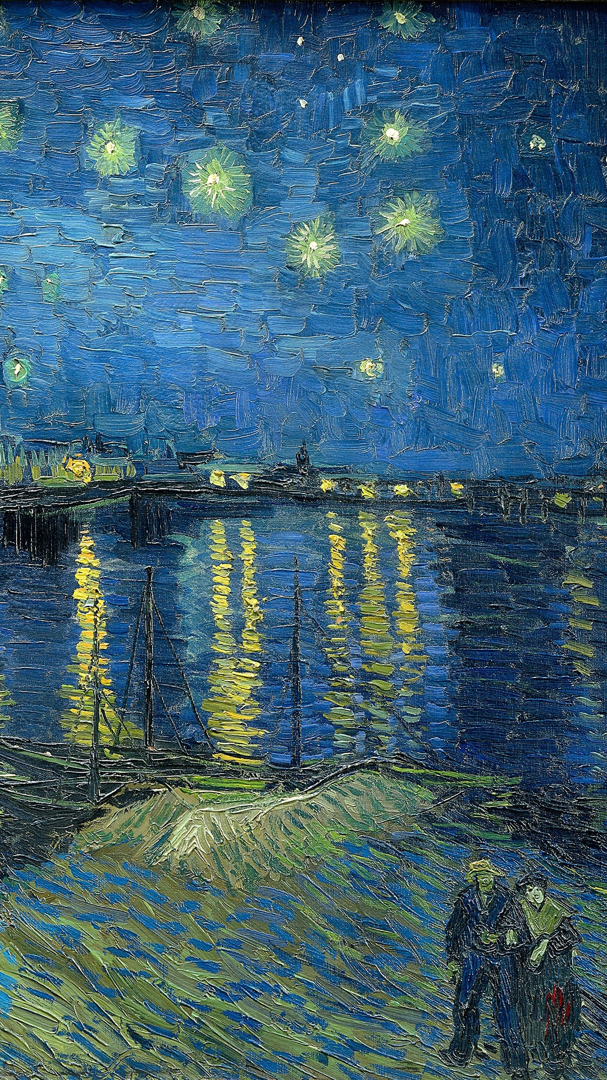 Iphone Backgrounds Art Free Windows Wallpapers Hd Download - Van Gogh Phone Background - HD Wallpaper