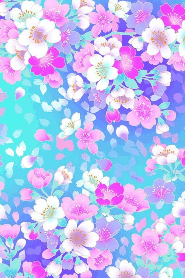 Hd Amazing Beautiful Colorful Flowers Ipod Touch Wallpapers - Desktop Wall Paper Girly - HD Wallpaper