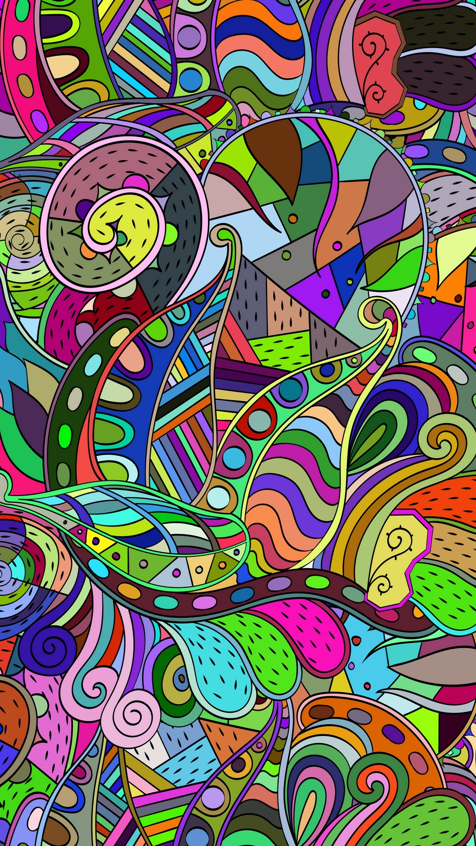 Wallpaper Doodles, Patterns, Colorful - Colorful Wallpaper Iphone 8 - HD Wallpaper