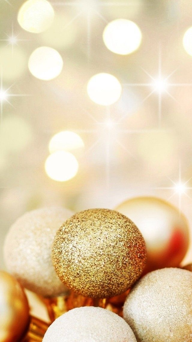 Gold Christmas Wallpaper Iphone - HD Wallpaper