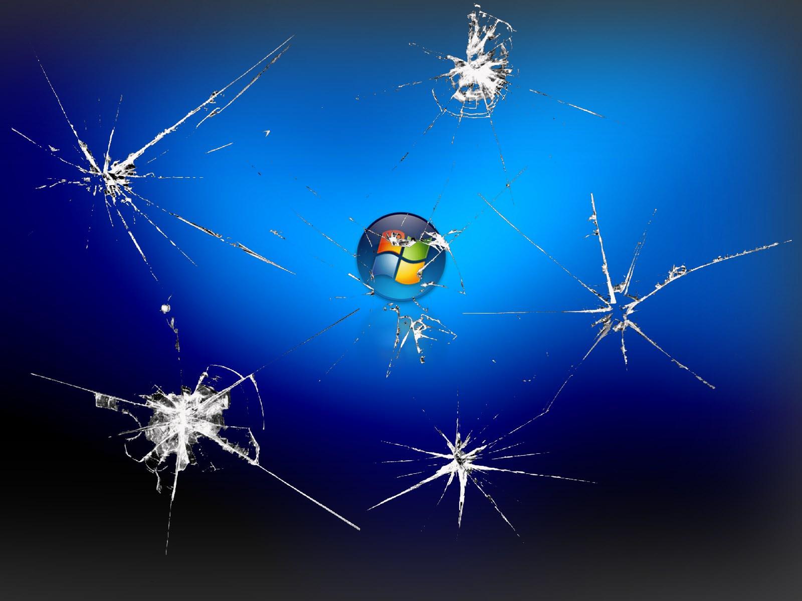 Broken Screen Wallpaper Hd Satisfying - Hình Nền Windows 7 Màn Hình Nứt - HD Wallpaper