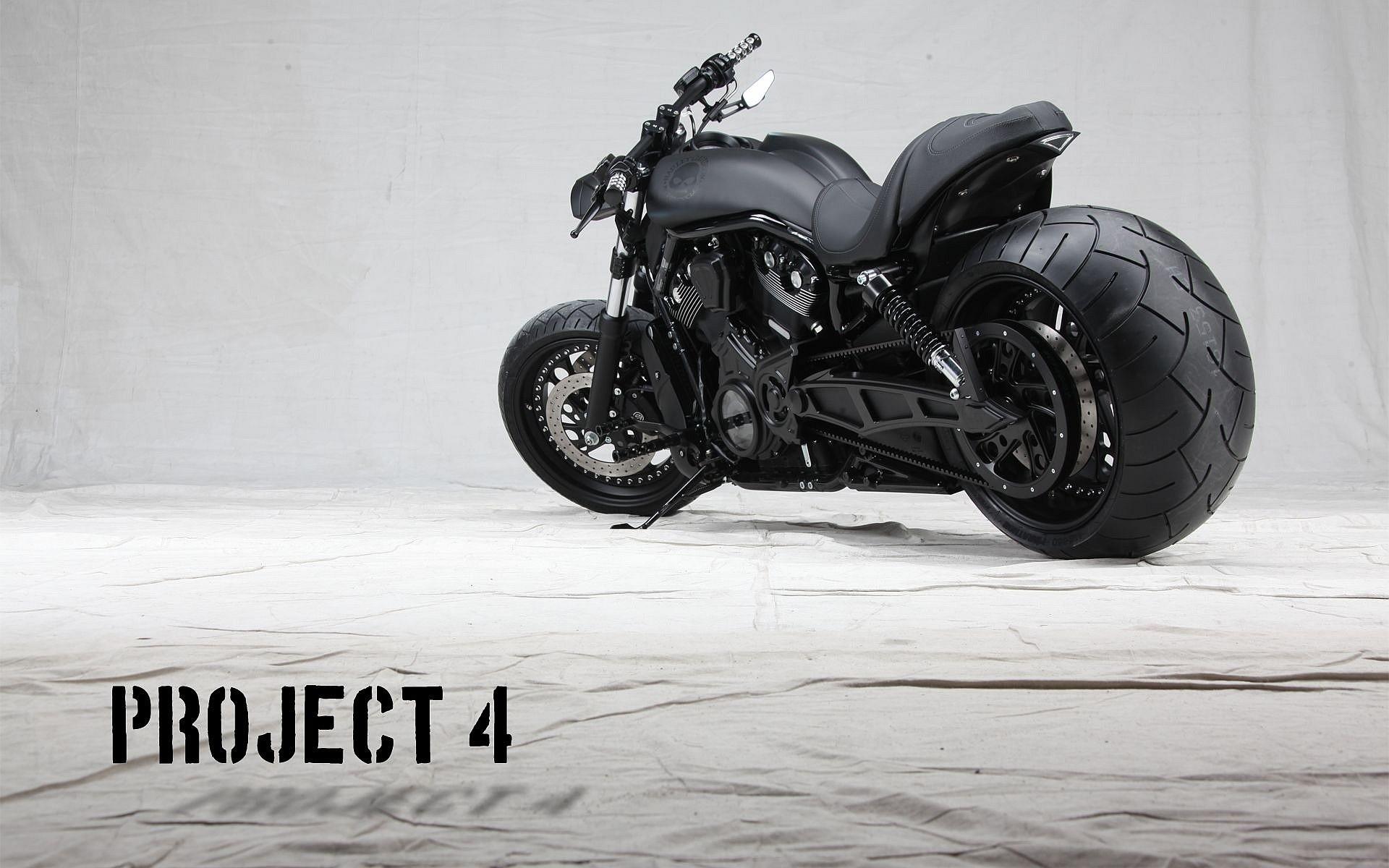 1920x1200, Black Harley Davidson Project Four Wallpaper - Harley Davidson V Rod Hd - HD Wallpaper