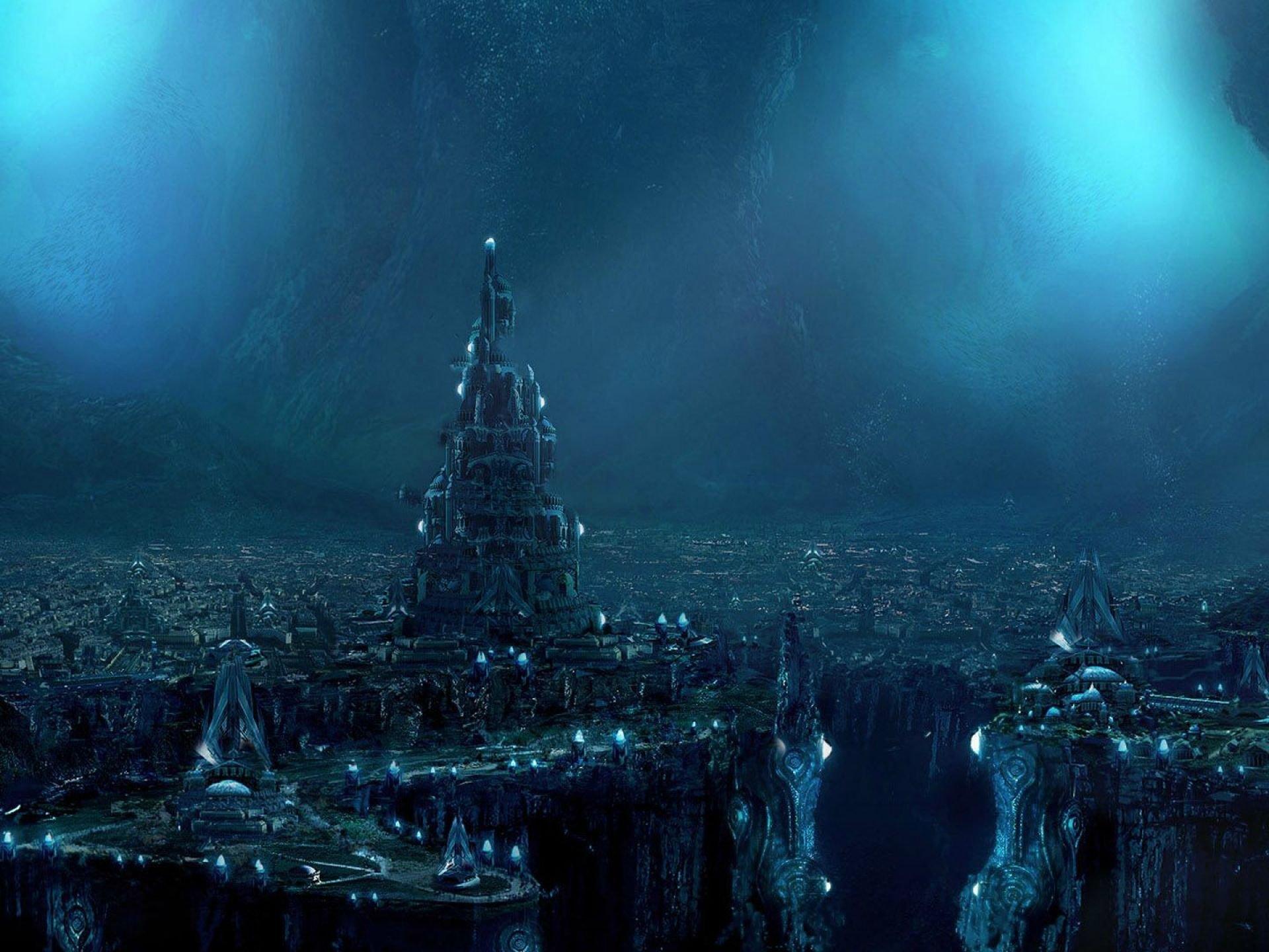 Futuristic City Rare Hd Wallpaper - Fantasy City Of The Dead - HD Wallpaper
