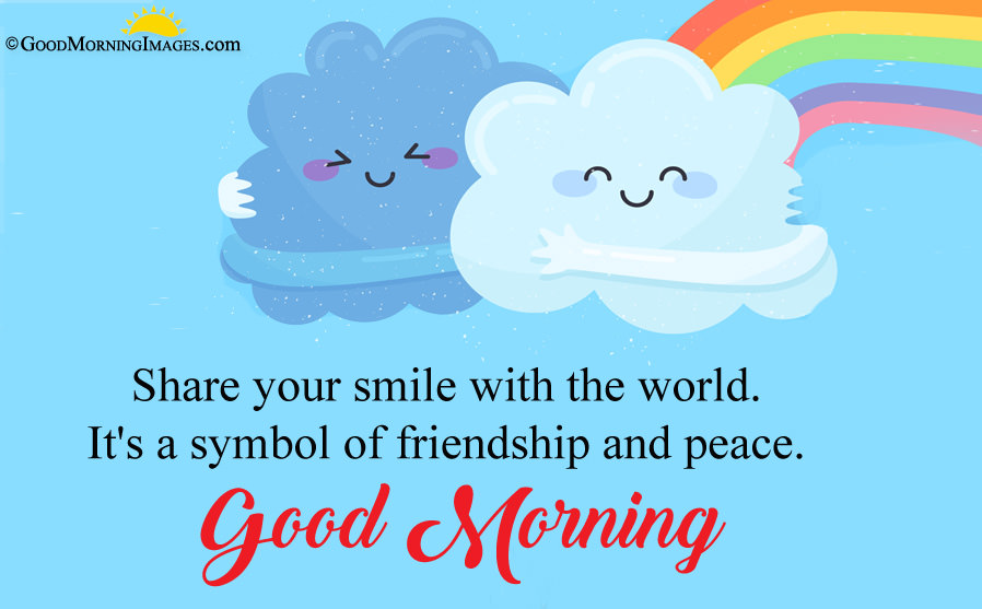 Sweet Friendship Quote With Cute Morning Hd Wallpaper - Smile Sweet Good Morning Quote - HD Wallpaper