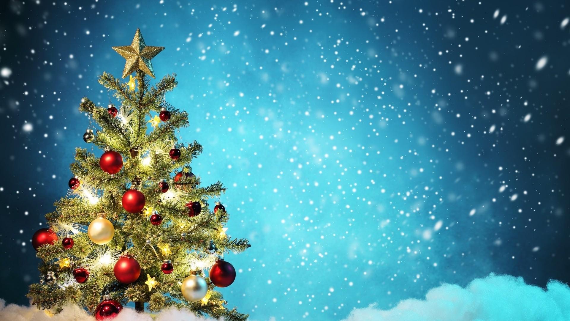 Christmas Wallpaper Hd   Src Widescreen Christmas Hd - Christmas Tree Holiday Background - HD Wallpaper