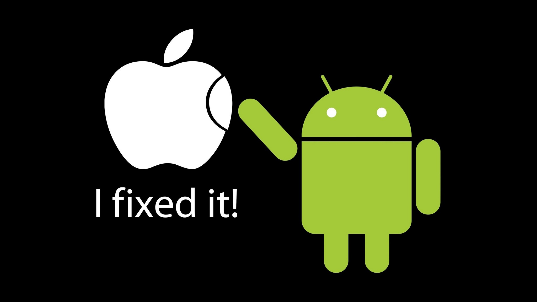 1920x1080, Wallpapers For > Android Vs Apple Hd Wallpaper - Fixed It Apple Android - HD Wallpaper