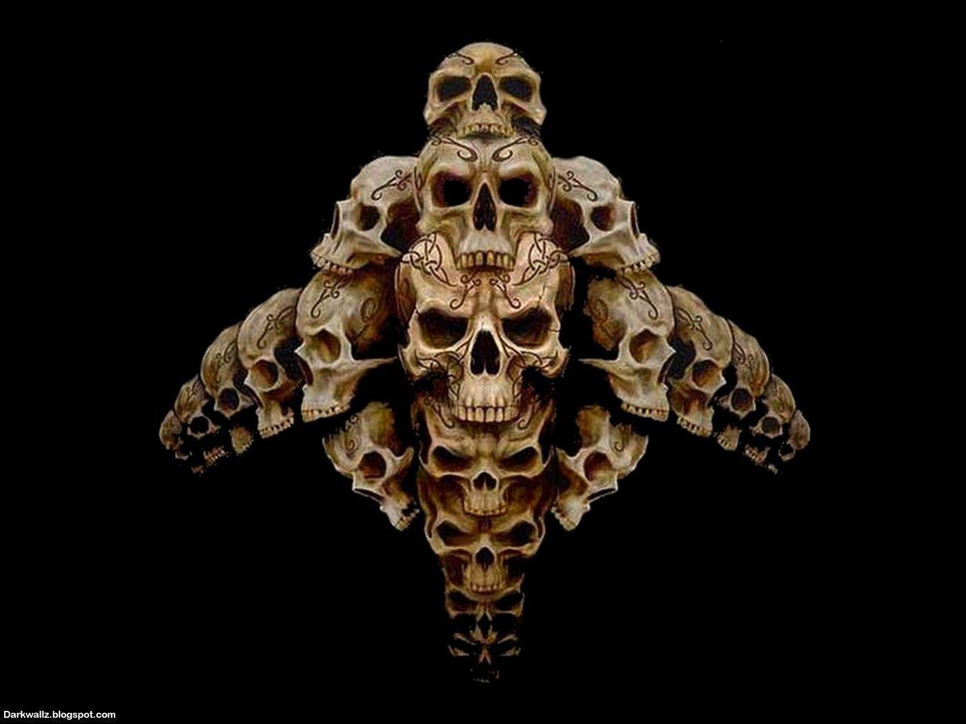 Skulls Wallpapers 64 Dark Skull Wallpapers Harley Davidson Thirsty Thursday 1400x1050 Wallpaper Teahub Io
