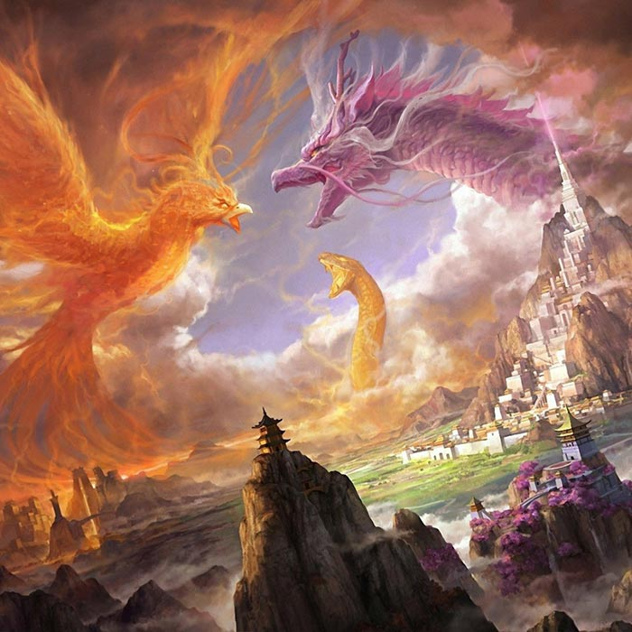 Phoenix Dragon Snake Wallpaper Engine Fantasy Dragons Wallpaper Hd 700x700 Wallpaper Teahub Io