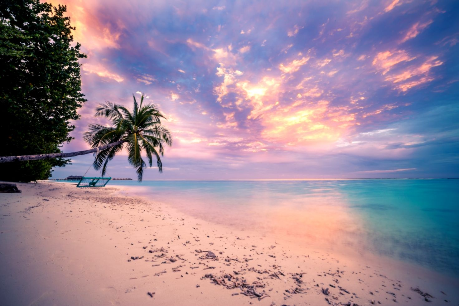 Tropical Beach Sunset Wallpaper And Background Image - Sunset Wallpaper Tropical Beach - HD Wallpaper