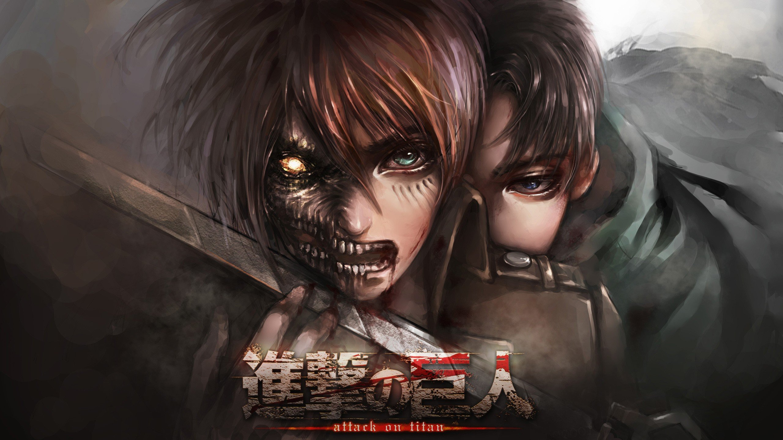 Awesome Attack On Titan Free Wallpaper Id Shingeki No Kyojin 2 Wallpaper Hd 2560x1440 Wallpaper Teahub Io