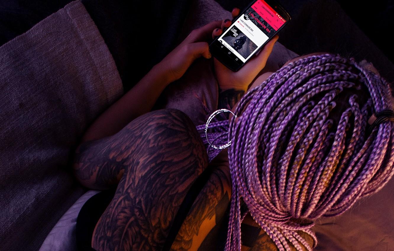 Photo Wallpaper Music, Girl, Tattoo, Body, Tattooed, - Cheating Husbands - HD Wallpaper