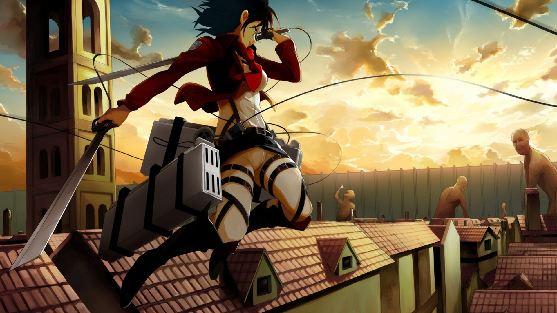 Mikasa Ackerman Wallpaper 1920x1080 Wallpaper Teahub Io