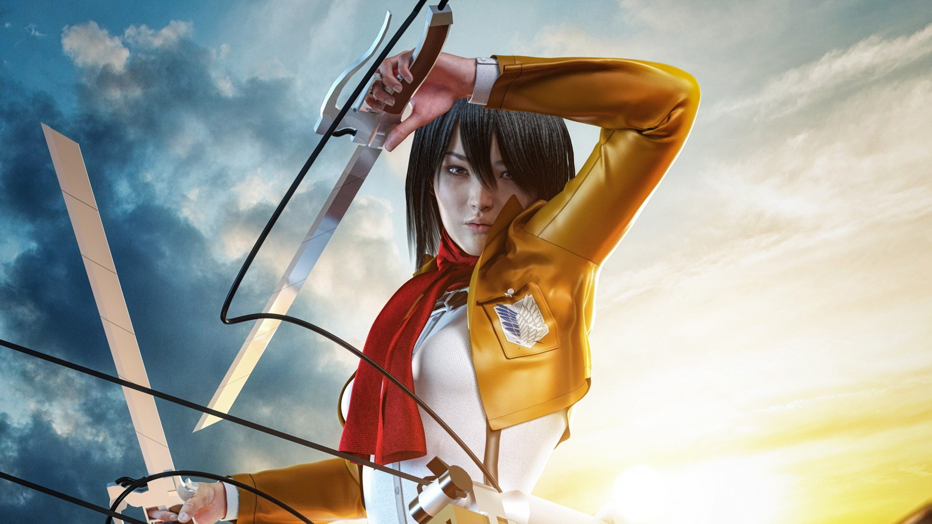 Mikasa Ackerman Wallpaper Hd 1920x1080 Wallpaper Teahub Io