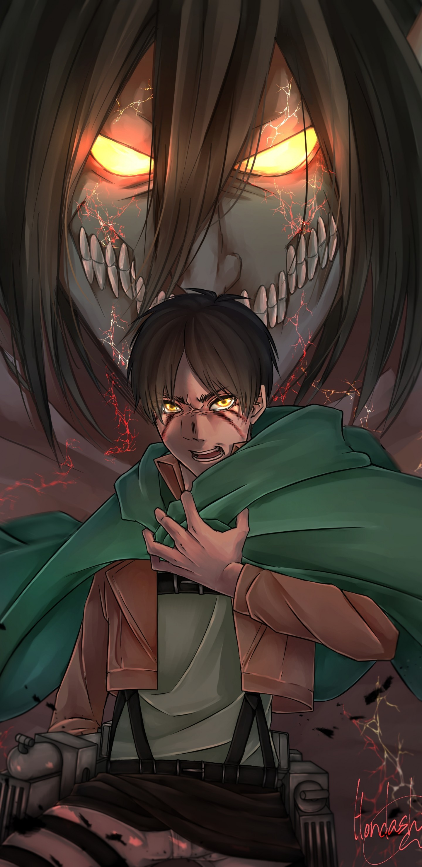 Eren Jaeger Shingeki No Kyojin Titan Attack On Titan Eren Jaeger Wallpaper Android 1440x2960 Wallpaper Teahub Io