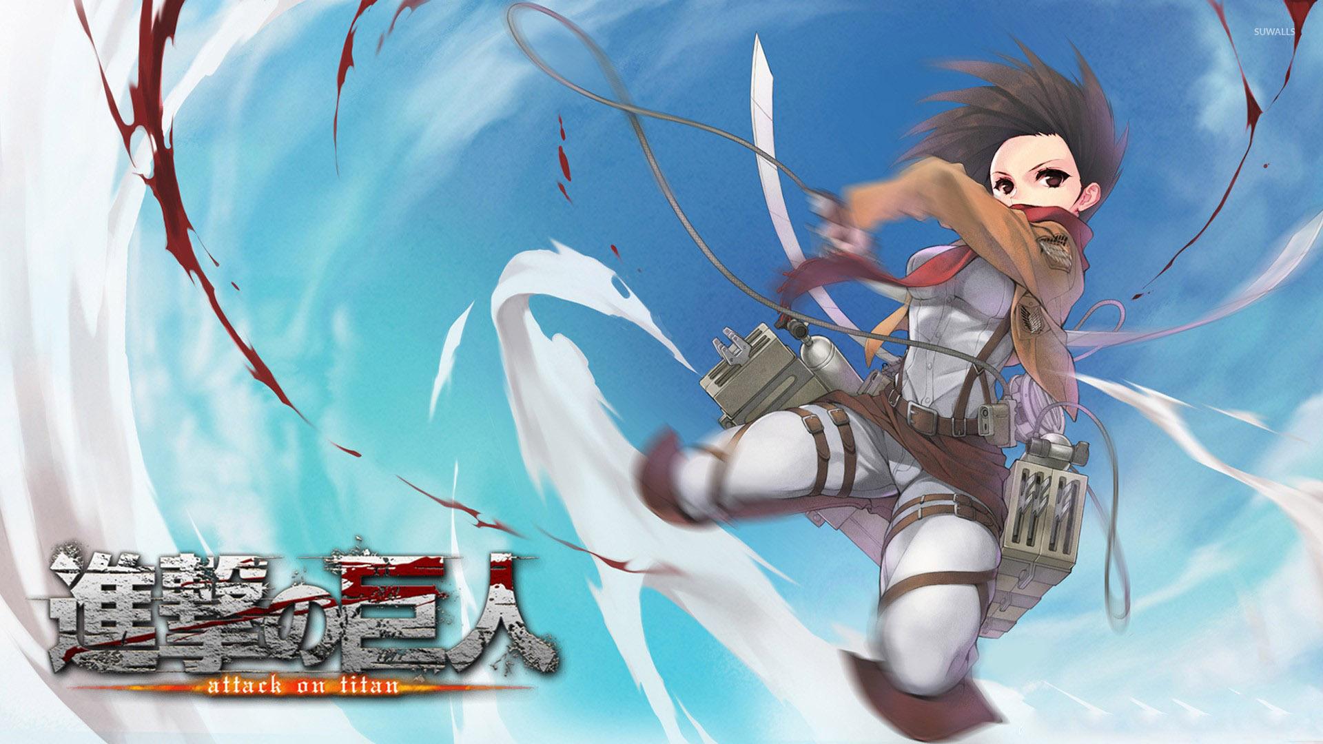 Attack On Titan Mikasa Snk Shingeki No Kyojin 1920x1080 Wallpaper Teahub Io