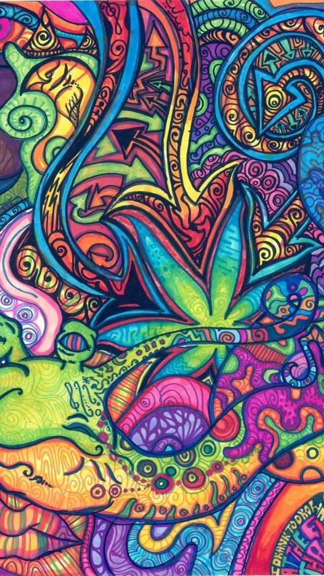 Trippy Wallpaper Iphone 7 640x1136 Wallpaper Teahub Io