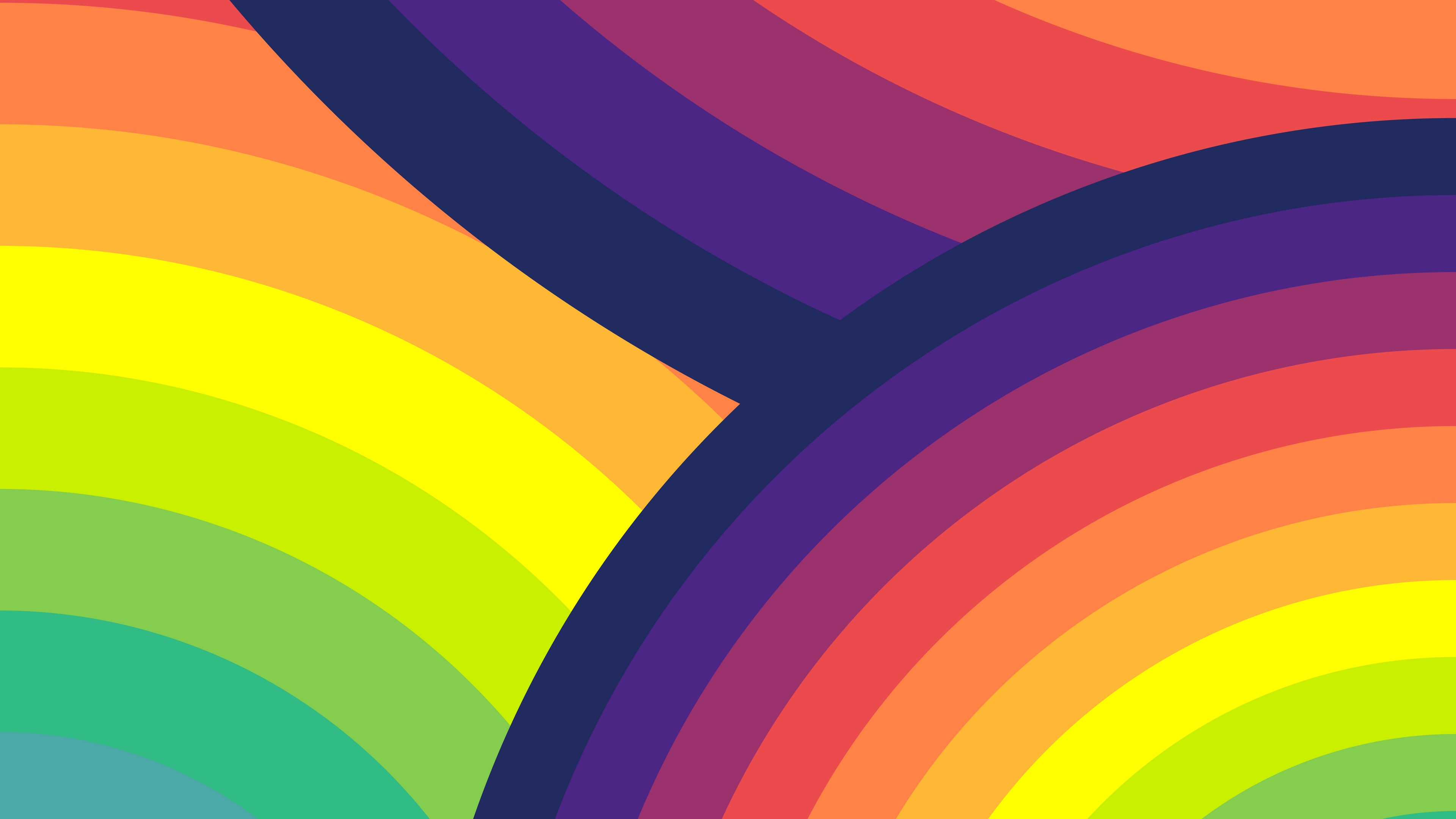 Wallpaper Circles Colorful Rainbow Arc Rainbow Wallpaper Hd 3840x2160 Wallpaper Teahub Io