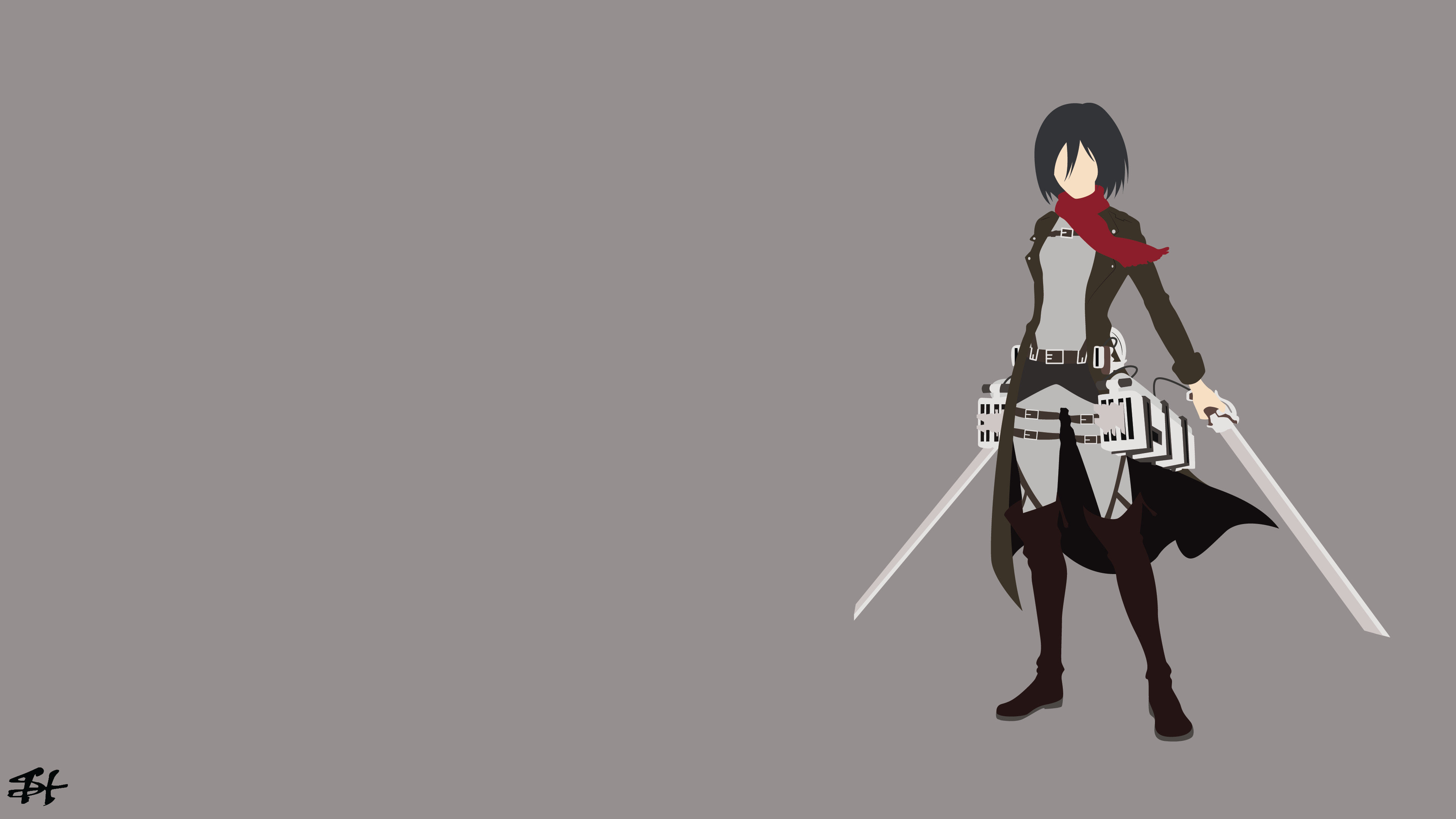 Awesome Mikasa Ackerman Free Wallpaper Id Attack On Titan Levi Wallpaper 4k 3840x2160 Wallpaper Teahub Io