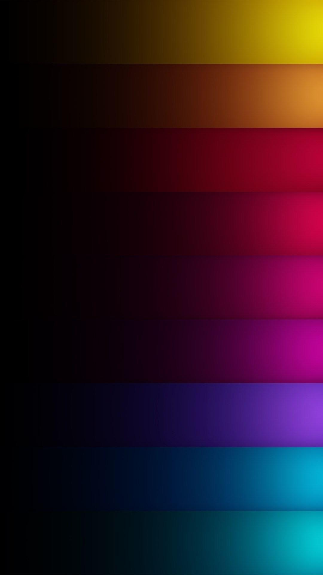 Download Dark Shadow Colored Rainbow Rows Iphone 6 - Dark Ombre Wallpaper Iphone - HD Wallpaper