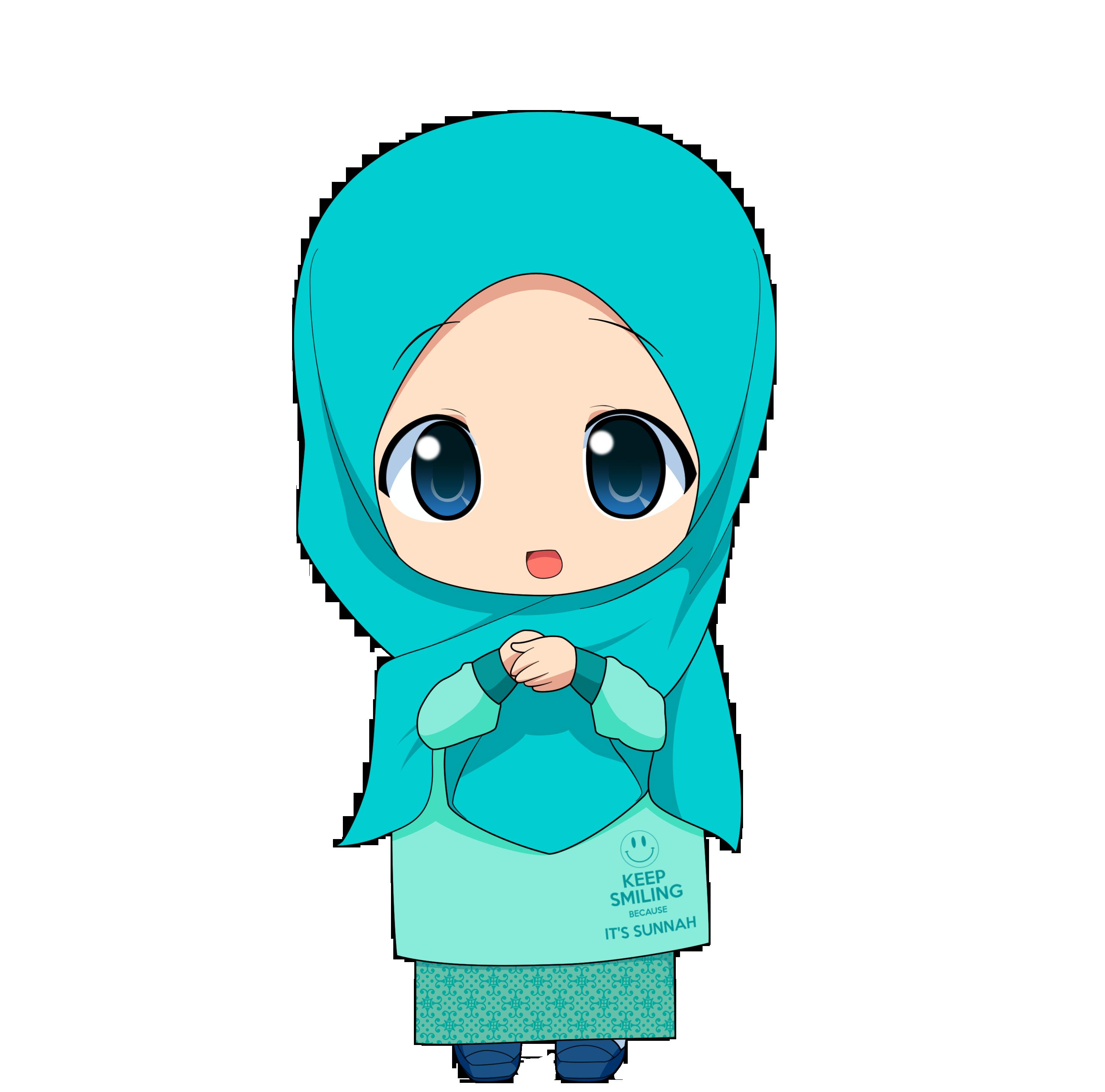 Gambar Kartun Muslimah Cilik Top Gambar - Anime Girl Muslim - HD Wallpaper