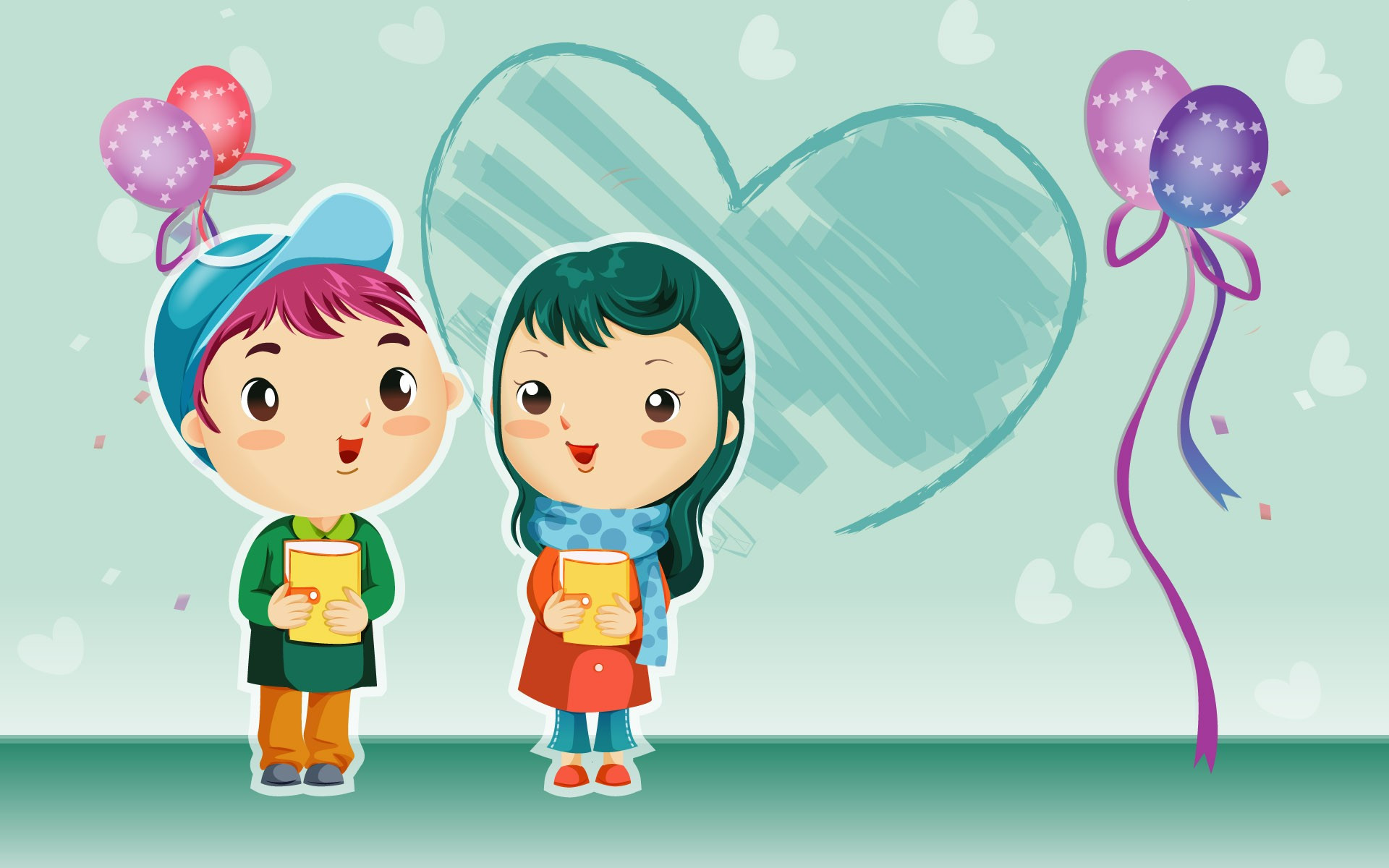 Cute Cartoon Couple Cartoon Image Full Hd 1920x1200 Wallpaper Teahub Io