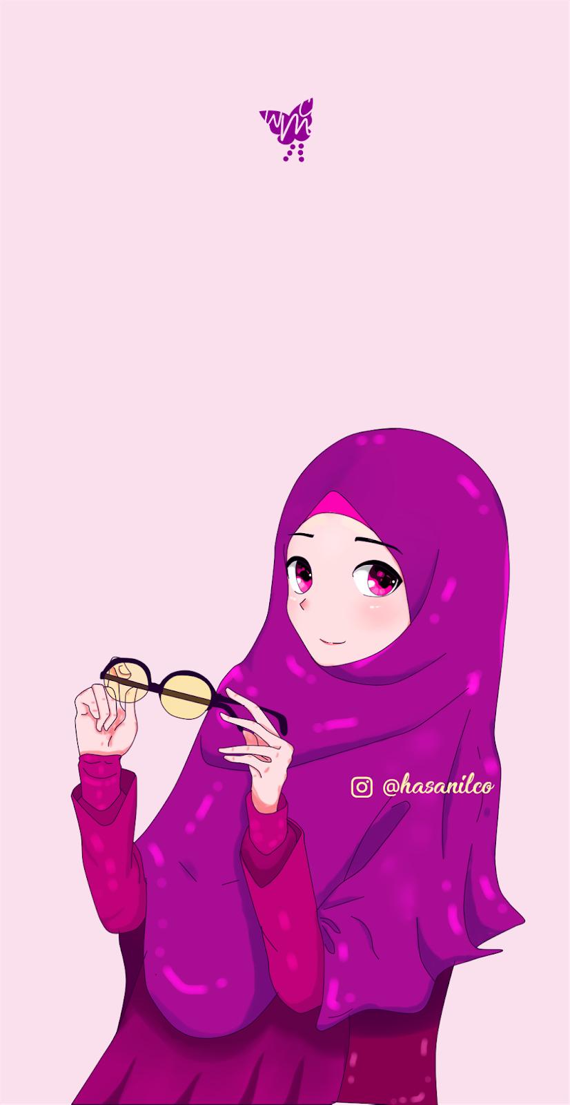 Selamat Pagi Kartun Muslimah 826x1600 Wallpaper Teahub Io