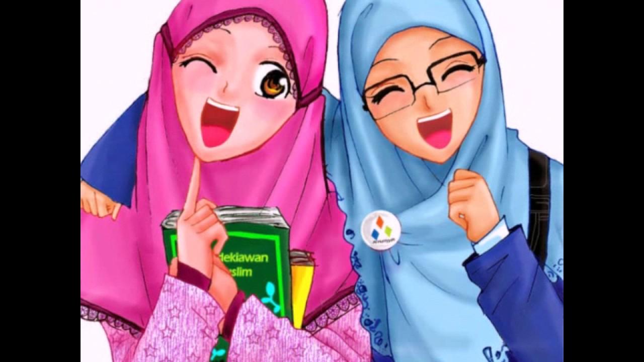 Kartun Anak Muslim Lucu - HD Wallpaper