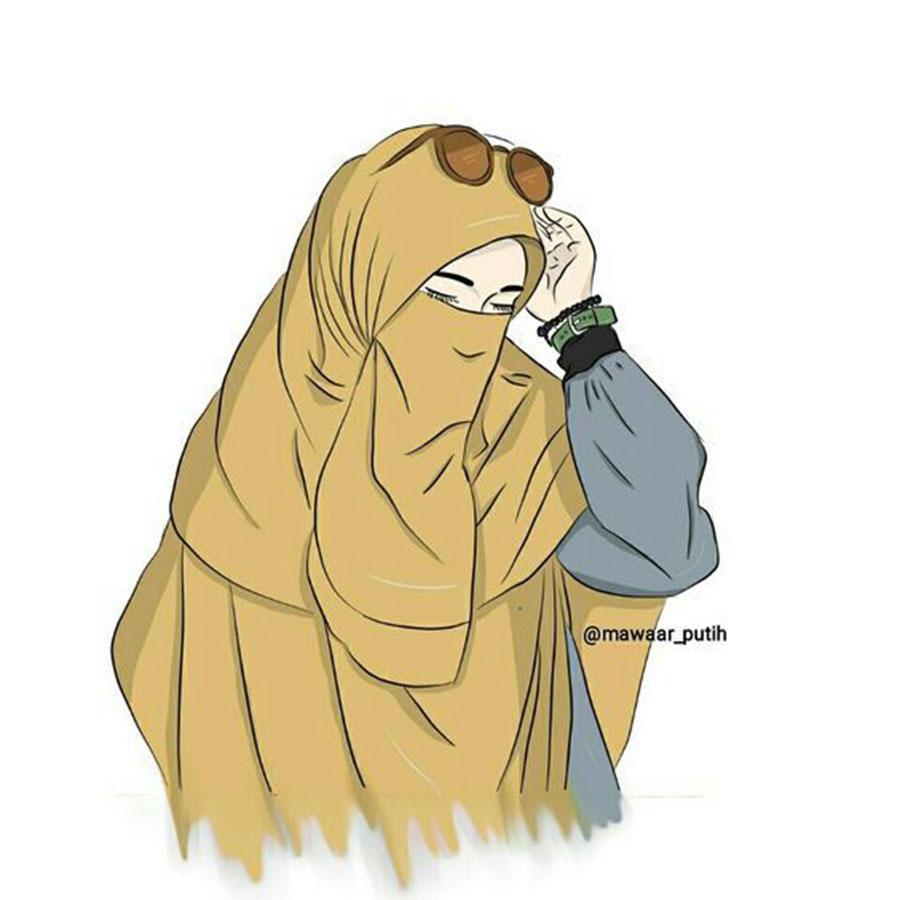 1000 Gambar Kartun Wanita Muslimah Cantik Dan Lucu Wanita Muslimah Kartun Bercadar 900x900 Wallpaper Teahub Io