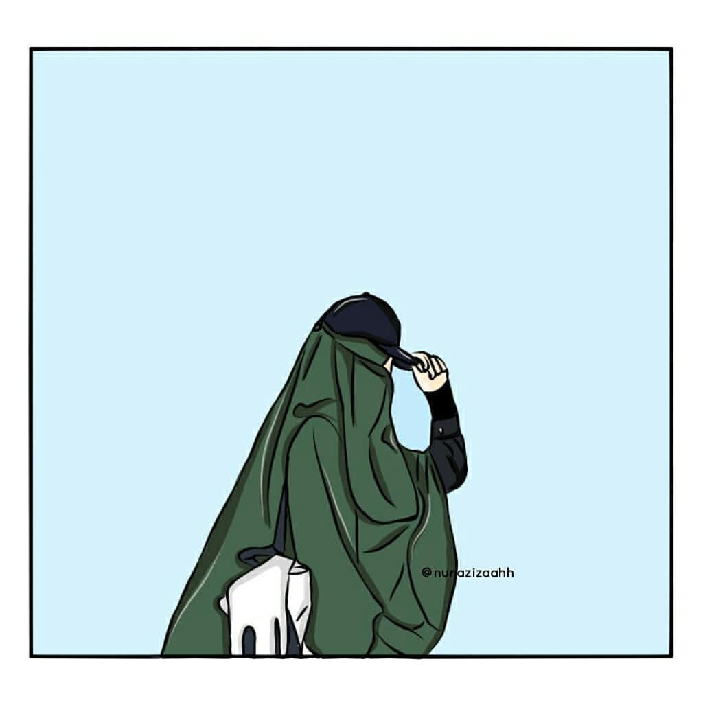 Gambar Kartun Muslimah Bercadar Bertopi Kartun Muslimah - Kata Jangan Salahkan Hijabku - HD Wallpaper