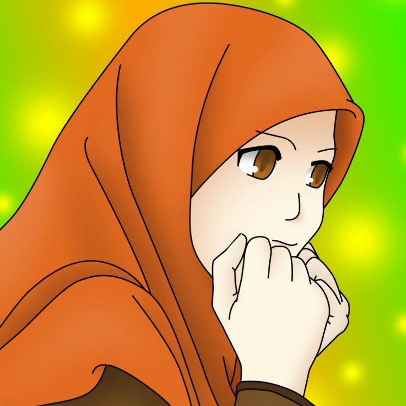 Kartun Wanita Berhijab - HD Wallpaper