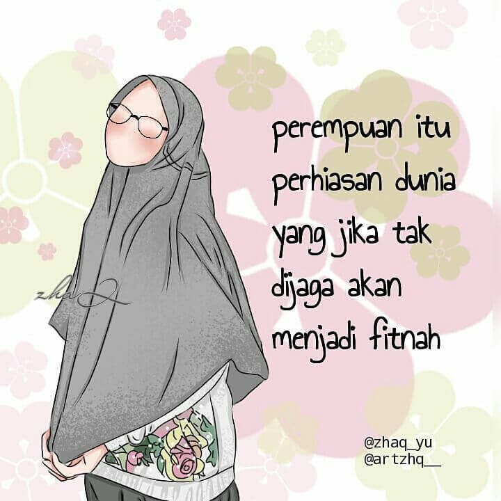 Gambar Kartun Muslimah - Muslimah Hijab Gambar Kartun - HD Wallpaper